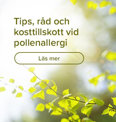 Tips, råd och kosttillskott vid  pollenallergi
